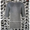 Aluminium Round Riveted Chainmail Shirt L Size