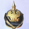 German Pickelhaube Leather Prussian Helmet WW1, WWii